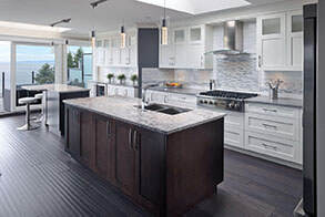 Brown Custom Kitchen Island