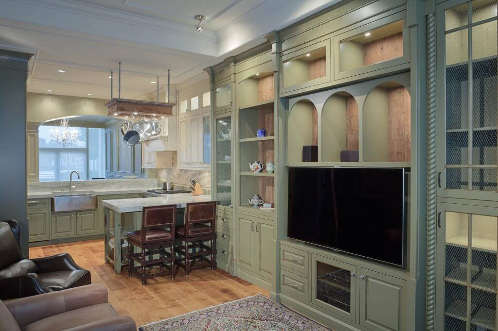 built in wall unit for TV