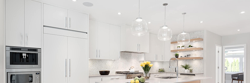 luxurious white kitchen cabinets