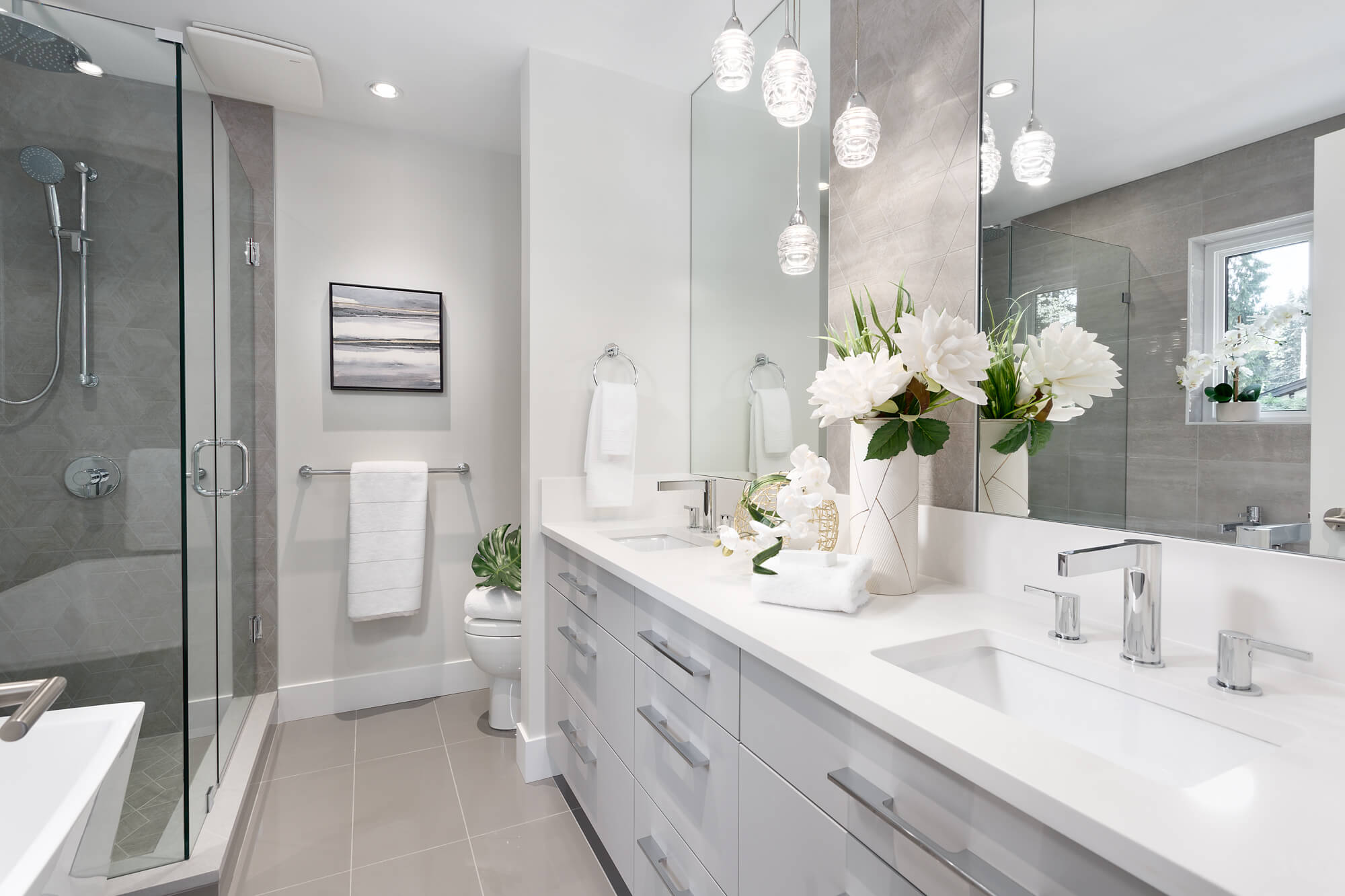 Double Sink Vanity and Mirrors