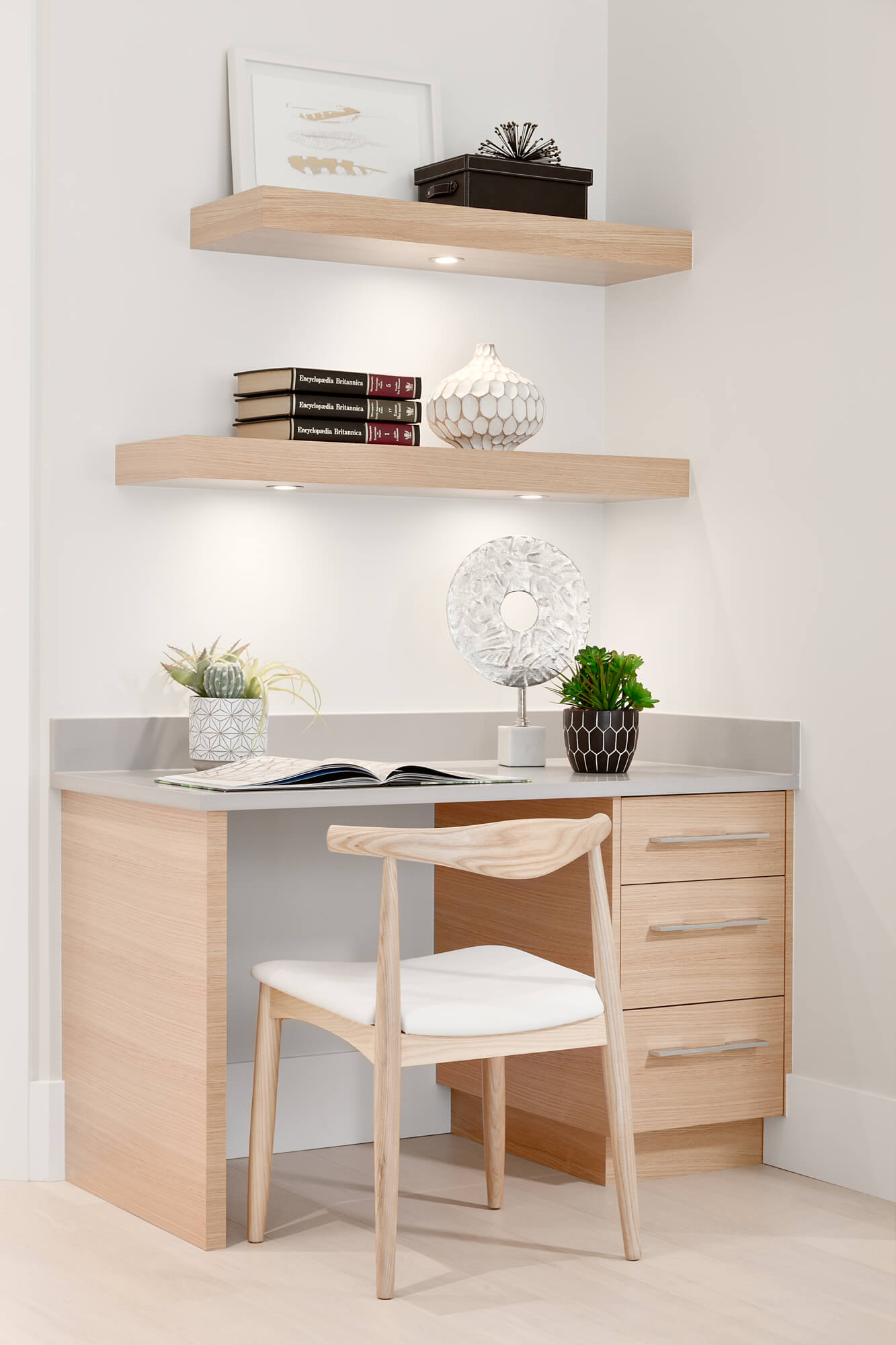 Office Desk with Custom Shelving