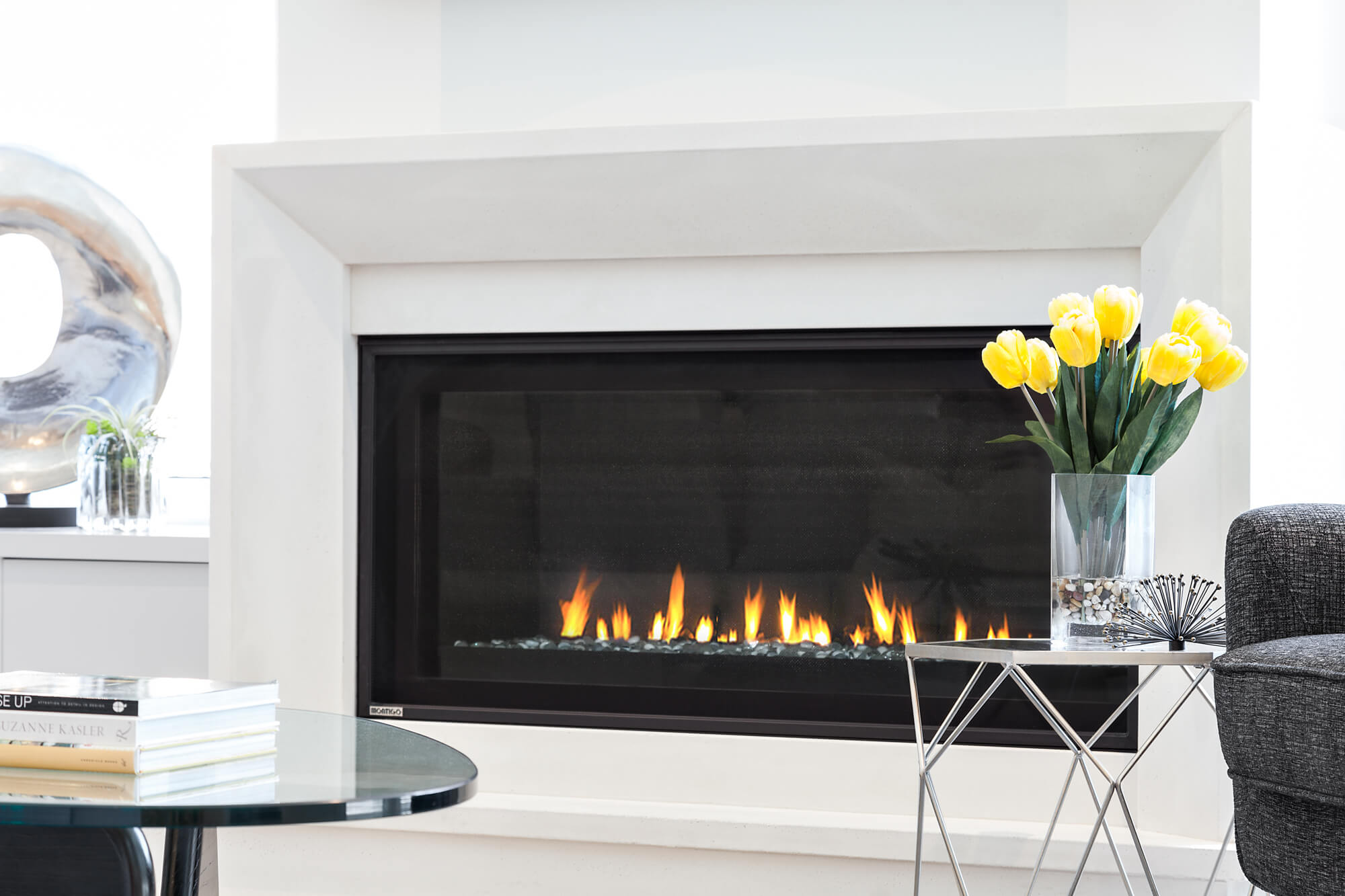 Built in Fireplace