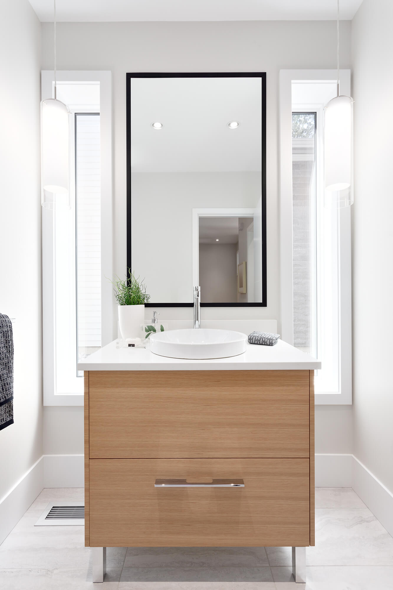 Custom Bathroom Vanity with Mirror