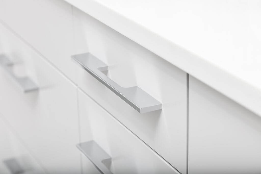 White Drawer on Bathroom Vanity
