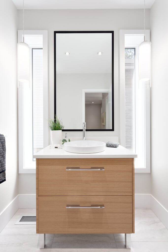 Small Bathroom Vanity with Mirror
