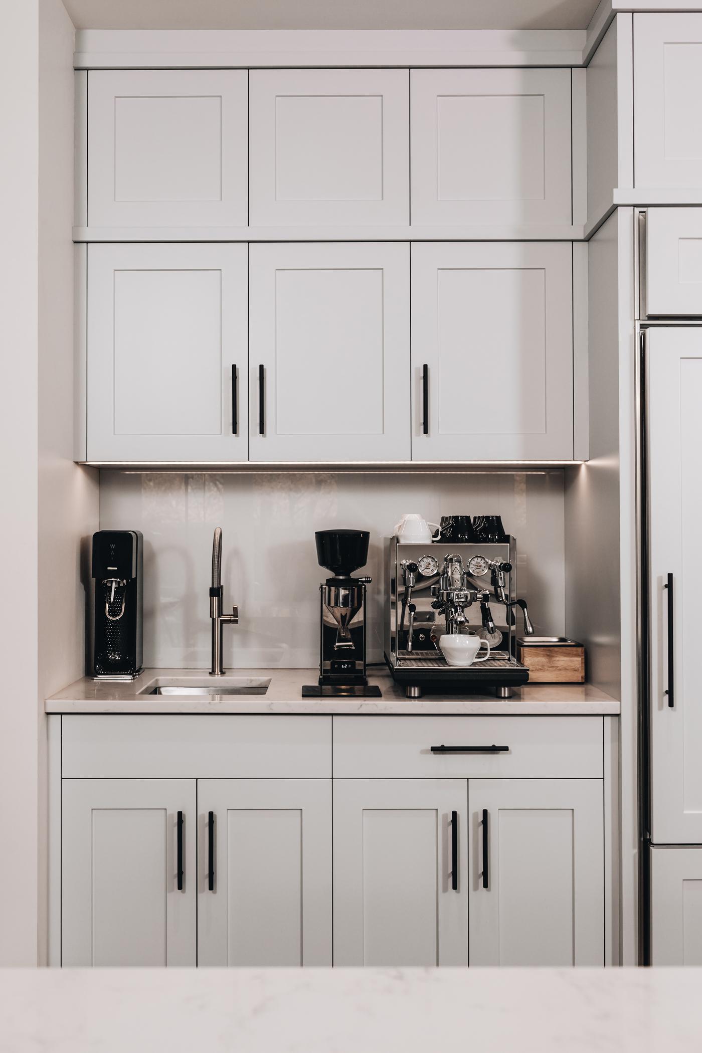 Constructing Custom Coffee Bar in The Kitchen | Kitchen Art Design