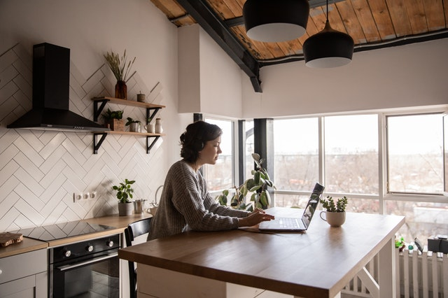 Girl Doing Kitchen Remodel Research | Kitchen Art Design