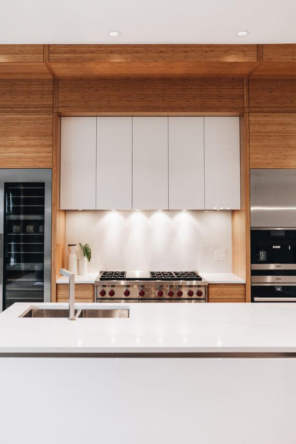 Light Wood and White Custom Kitchen | Kitchen Art Design